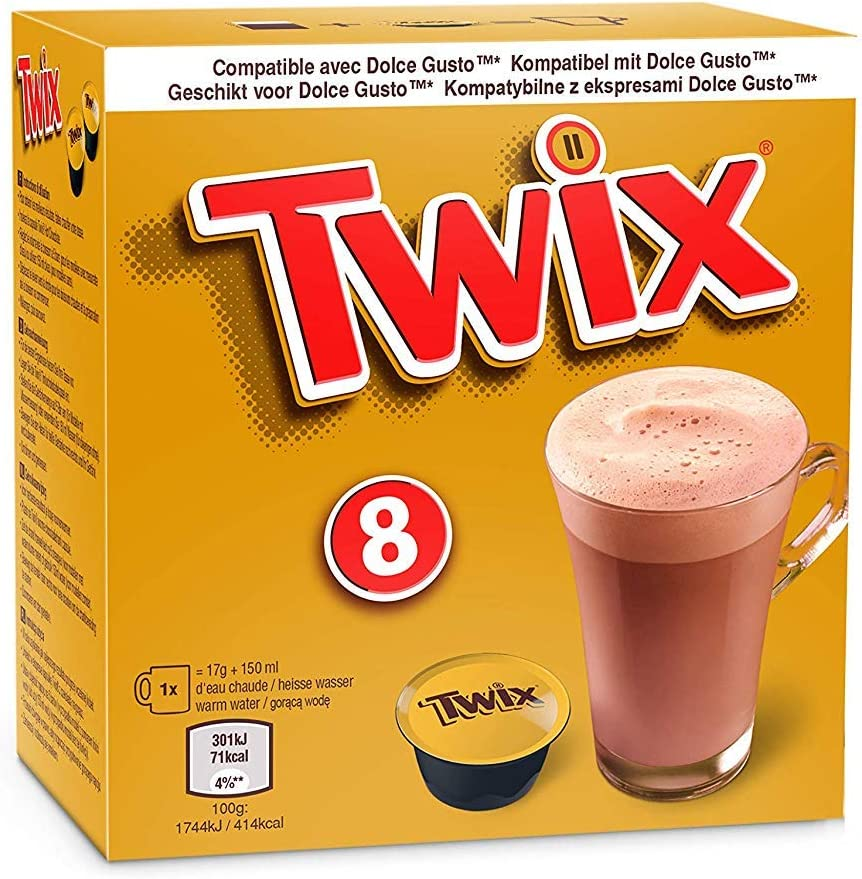 Mars / Twix Bebida Chocolate Dolce Gusto - 8 capsulas (Mars, 5 ...