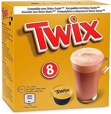 Mars / Twix Bebida Chocolate Dolce Gusto - 8 capsulas (Twix, 10 ...