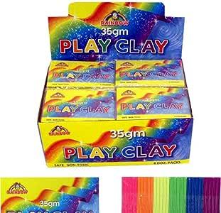 HENBRANDT 12 X Mini Pack de Juego Arcilla Relleno Bolso Fiesta Plastilina Arte Juguete: Amazon.es: Juguetes y juegos