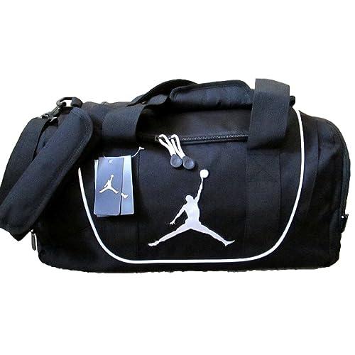 52bfc916960 Nike Air Jordan Duffel Gym Bag in Black and White 9A1498-210