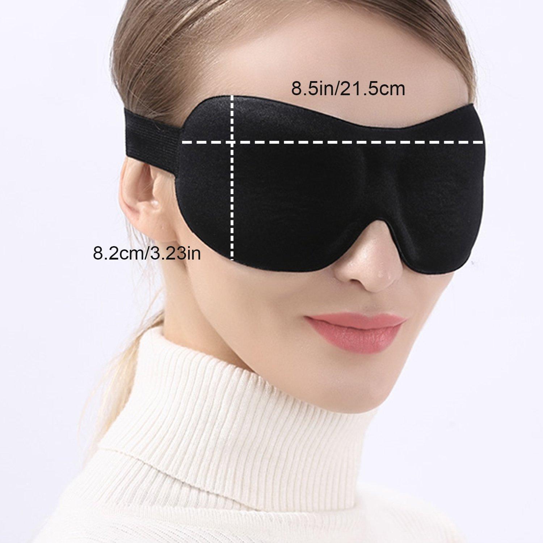 Maschera di Sonno Morbida Leggera per Casa Viaggio SweetLF 3D Mascherina per Dormire Mascherina per Occhi