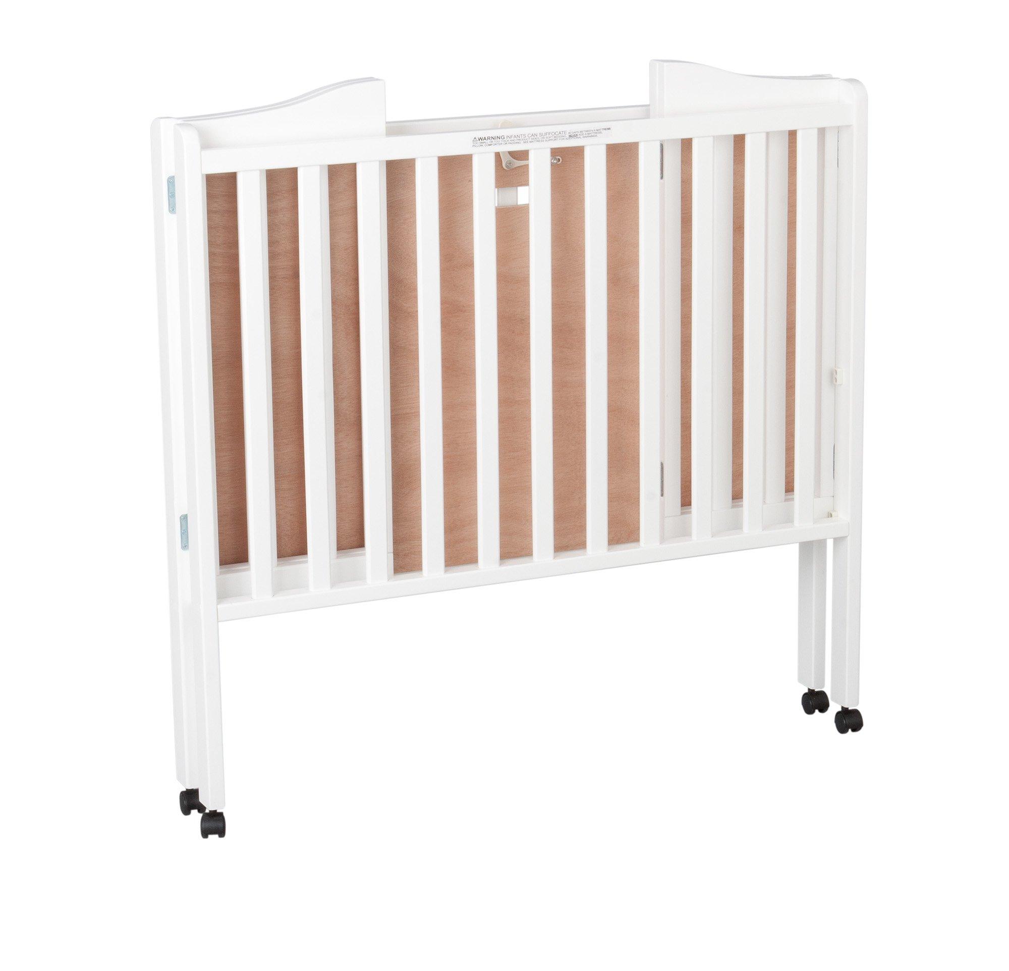 Delta Children Folding Portable Mini Crib with Mattress, White by Delta Children (Image #3)