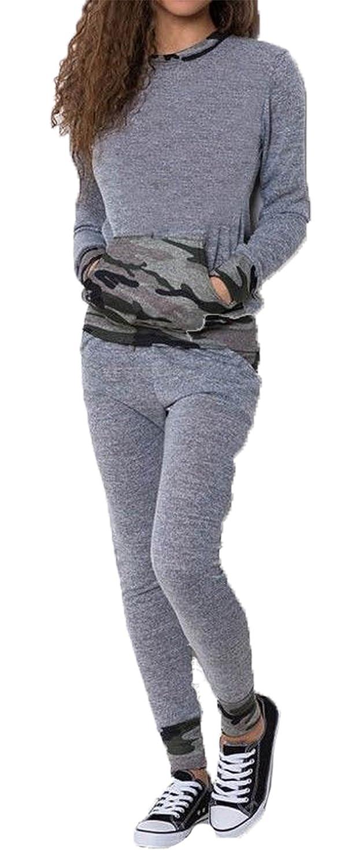 Femmes Fast Fashion Set Print Accros Joggeurs Surv/êtement Sweatshirt