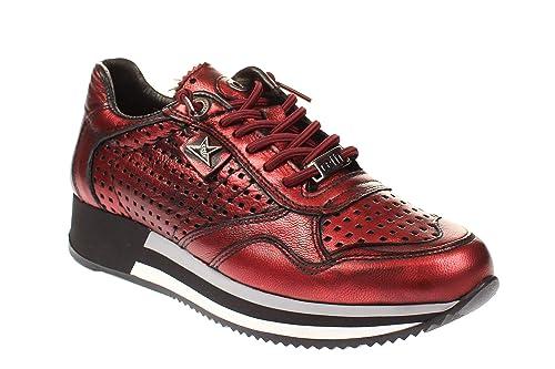 Cetti - Zapatillas de Cuero para Mujer, Color Rojo, Talla 37 EU