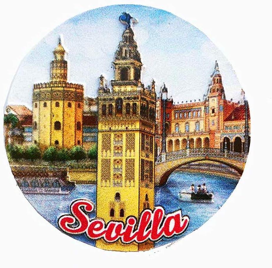 Sevilla España imán de nevera 3D artesanía recuerdo resina imanes de nevera colección regalo de viaje: Amazon.es: Hogar