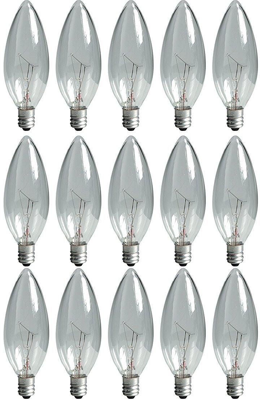 GE 75257 Crystal Clear 15 Watt 2-Pack Bulbs