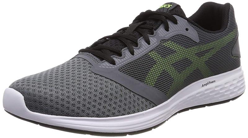 Asics Patriot 10 Sneakers Laufschuhe Herren Grau/Grün (Steel Grey/Hazard Green)