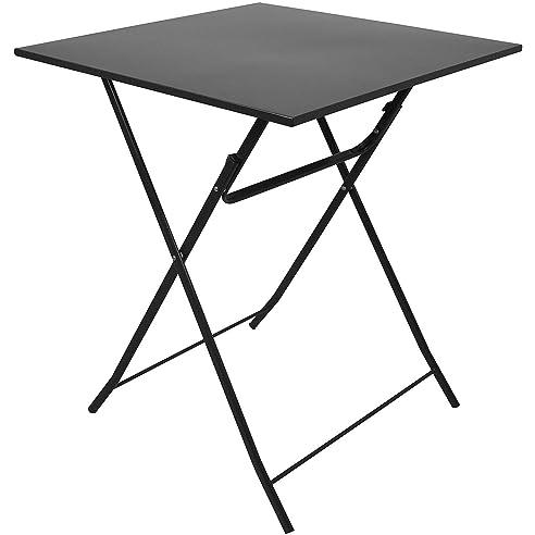 Balkontisch klappbar metall  Metall Tisch 60x60cm Anthrazit Klapptisch Falttisch Campingtisch ...