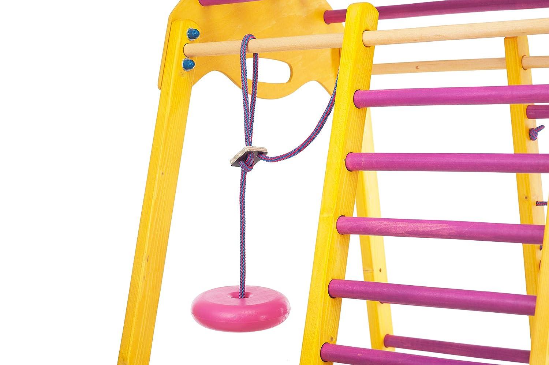 RINAGYM Centre dactivit/és pour Enfants Kids Espalier su/édois Cage /à Grimper Toboggan Echelle de Corde