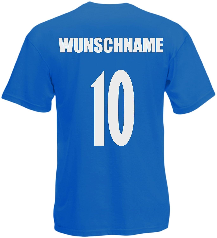 inkl.Druck Name und Nr Türkiye Türkei WM 2018 T-Shirt Trikot Look Fußball