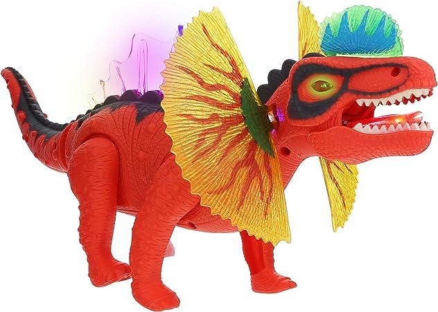 Realistic Prehistoric Dinosaur Stegosaurus Walking Light Up Action Toy