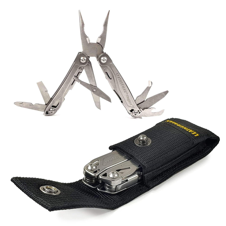 Leatherman Personalizada ej. (Un nombre o inscripción de su elección) Wingman Llavero Multi Función Herramienta cuchillo de bolsillo - Plata Steel (libre de ...