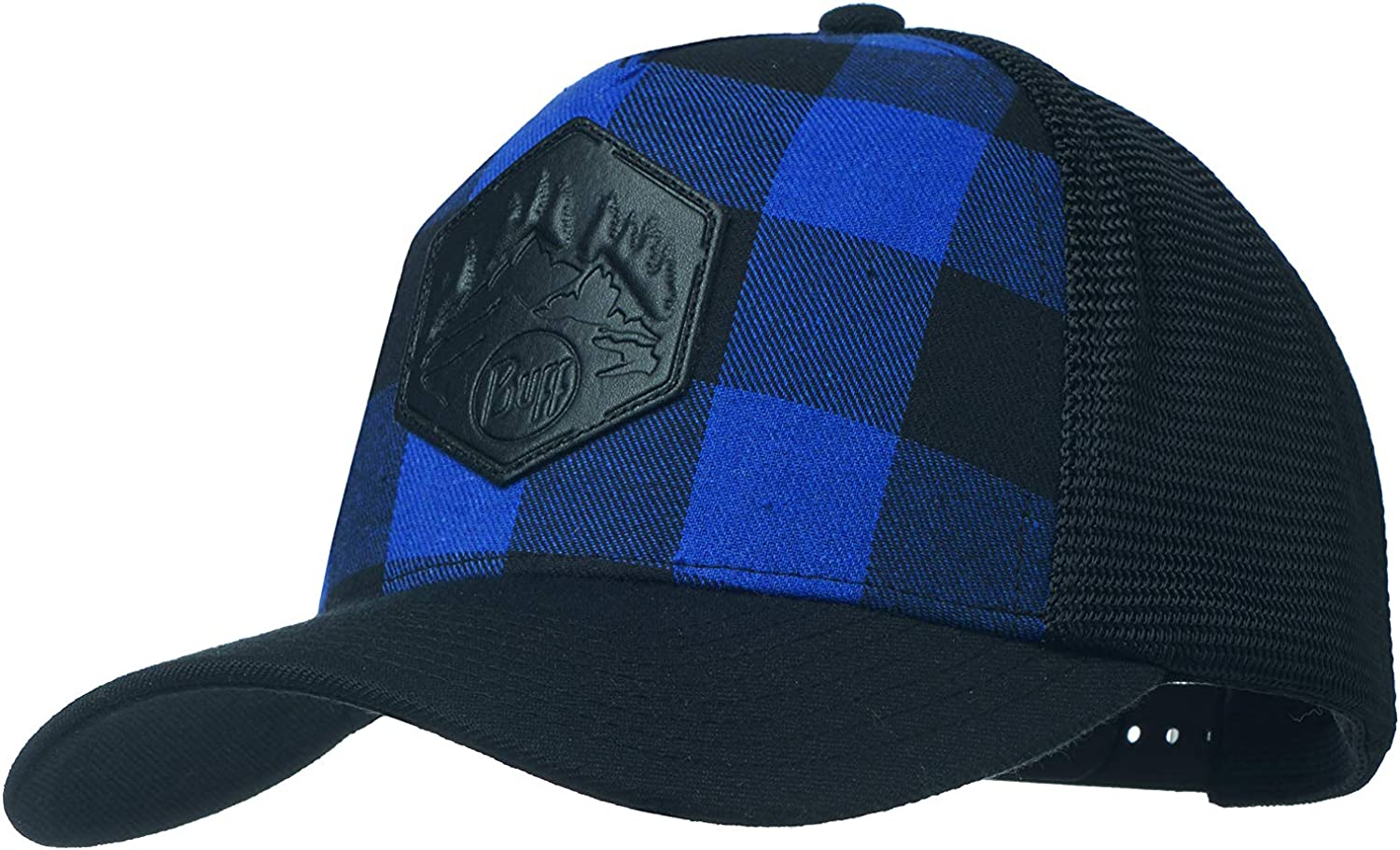 Buff Plaid Trucker Gorra, Hombre, Azul (Cape), Talla Única: Amazon ...