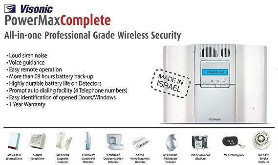 B13 - POWERMAX VISONIC sistema de alarma antirrobo sensor de ...