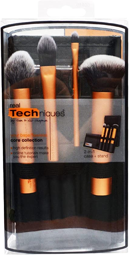 Real Techniques Your Base/Flawless Core Collection Makeup Brush Set (Pack of 3) by Real Techniques: Amazon.es: Belleza