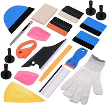 Ehdis New Installation Tool Kit for Car Auto Glass Protective film Installing Vehicle Pro Windshield Film Wrap Scraper Application ToolKits