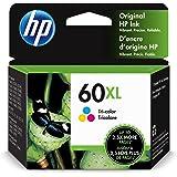 HP 60XL | Ink Cartridge | Tri-color | Works with HP DeskJet D2500 Series, F2430, F4200 Series, F4400 Series, HP ENVY 100, 110