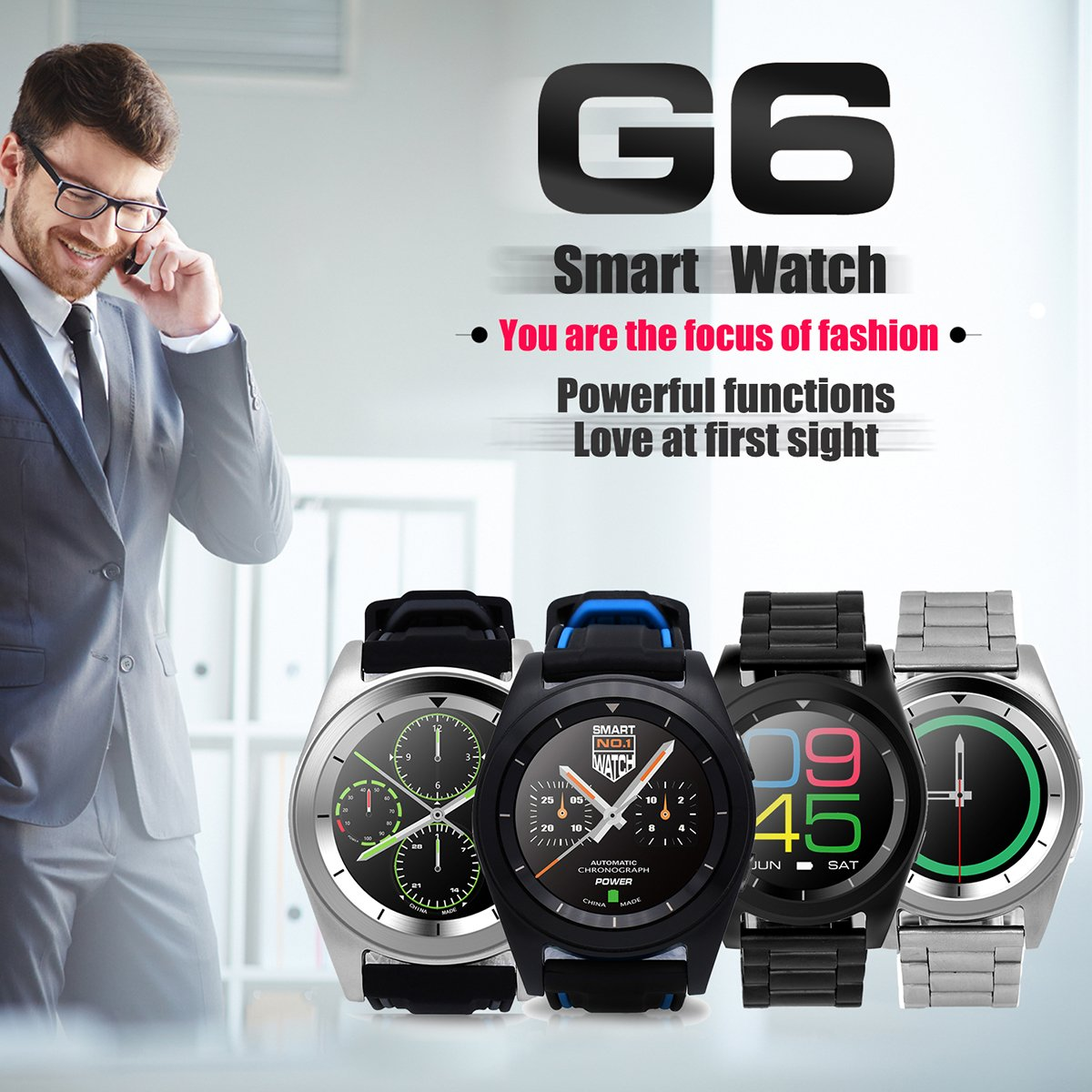 G6 Smart Watch Bluetooth 4.0 Monitor de Ritmo cardíaco ...