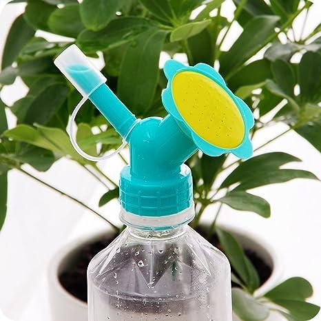 MyLifeUNIT - Aspersor para tapa de botella, boquilla de riego para botellas de doble cabeza, regadera para plantas de interior: Amazon.es: Jardín
