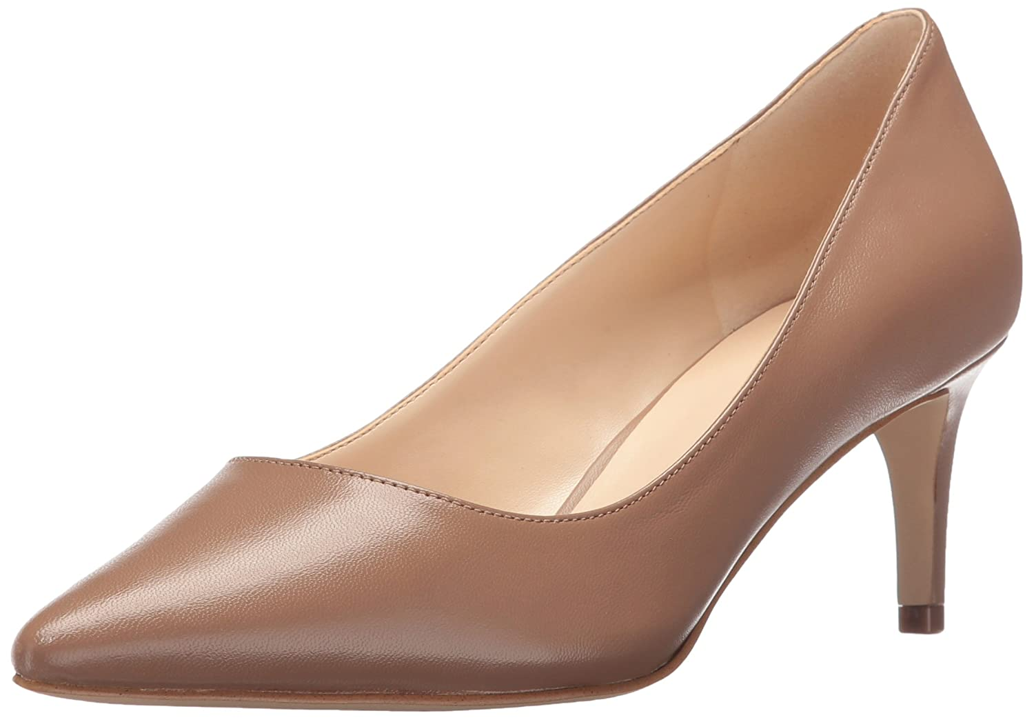 Nine West Women's Smith Leather Dress Pump B01LXTIMBR 6.5 B(M) US|Natural