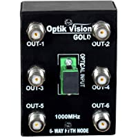 optik vision gold FTTH Powerless Node Optical Receiver Fiber RF -Converter 6 Out