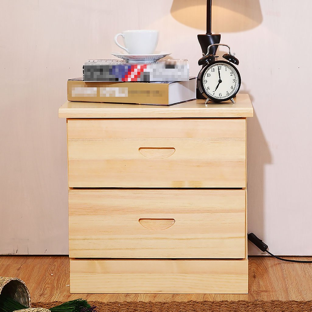 AJZGF Solid Wood Bedside cabinets, Minimalist Bedroom lockers, Creative Pine Bedside cabinets, Chest of Drawers lockers Shelf (Color : 44cm)