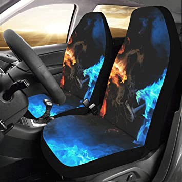 Artsadd Blue Vs Red Dragon Car Seat Covers Set Of 2 Best Automobile Seats