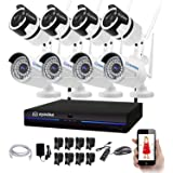 eyedea 8 CH Channel HD 1080P Wireless NVR Kit P2P Weatherproof Indoor Outdoor IR Night Vision Motion Detection Free APP…