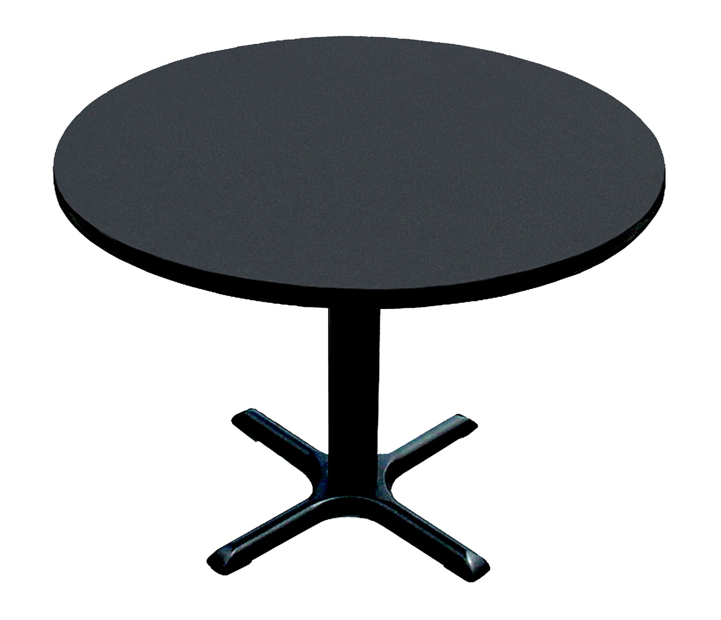 Correll BXT48R-07 Black Granite Top and Black Base Round Bar, Café and Break Room Table, 48'' by Correll
