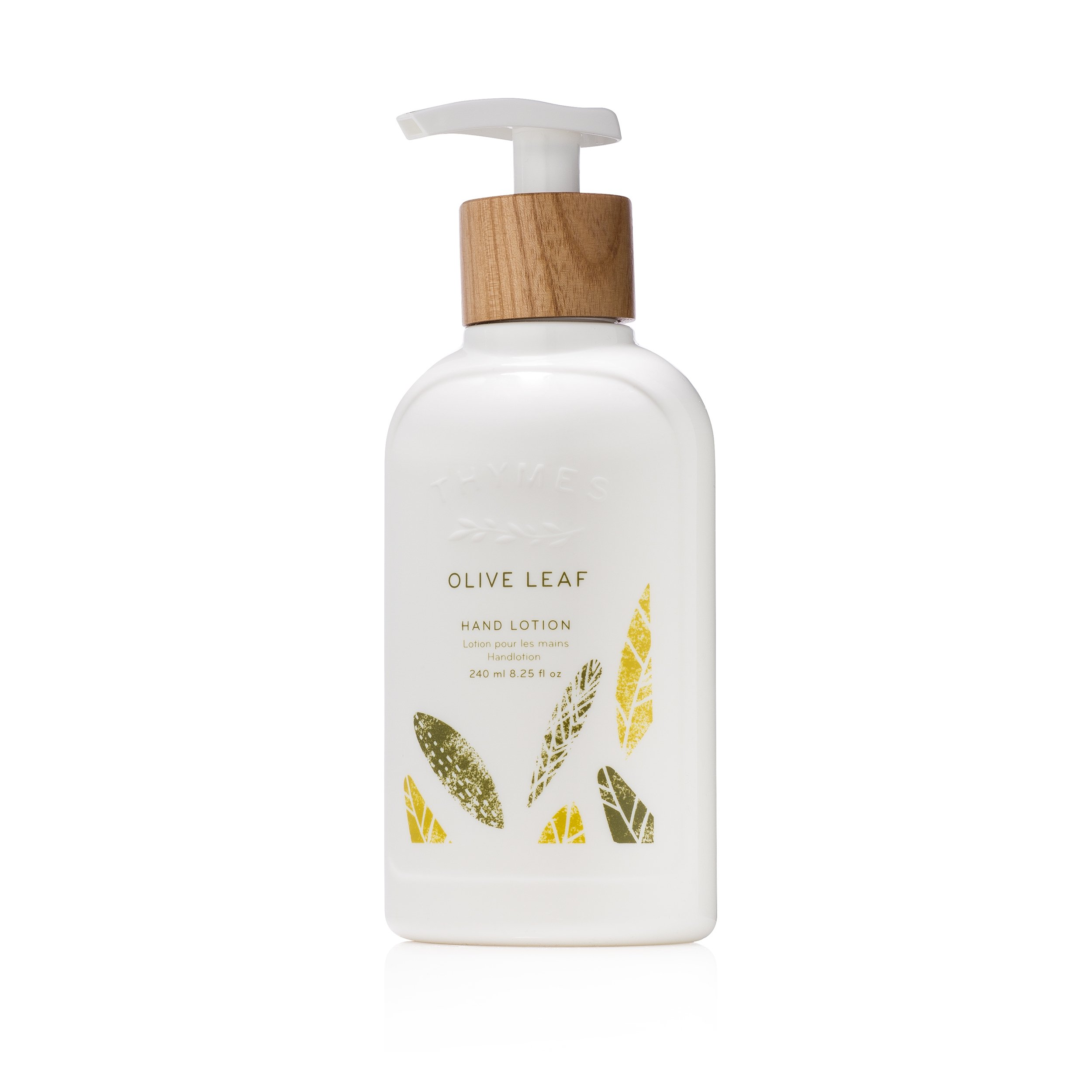 Thymes - Olive Leaf Hand Lotion with Pump - With Moisturizing Shea Butter, Vitamin E and Olive Oil - 8.25 oz by Thymes