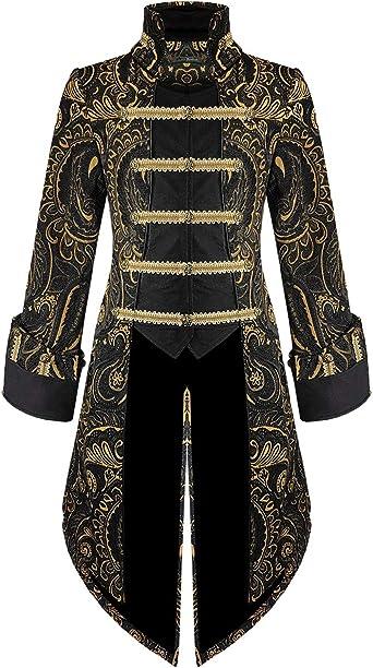 Devil Fashion Mens Blouse Shirts Gothic Steampunk Lace Victorian Aristocrat Top