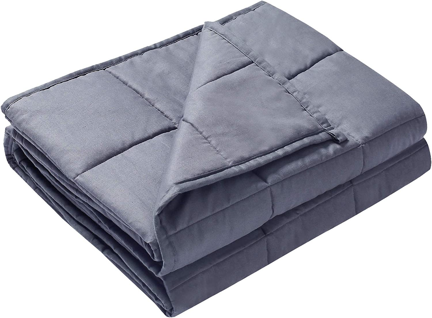 B07VWM8DYX Alomidds Weighted Blanket 5 lbs| 36''x48'', for 40-60 lbs Individual, Heavy Blanket for Kids Calm Sleeping 100% Cotton Material with Glass Beads| Grey (5lbs-36''x48'') 71iKCio3qNL