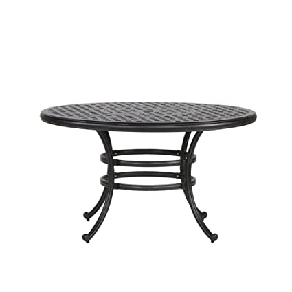 Amazoncom IPatio Sparta Inch Round Dining Table Garden Outdoor - 52 inch round outdoor dining table