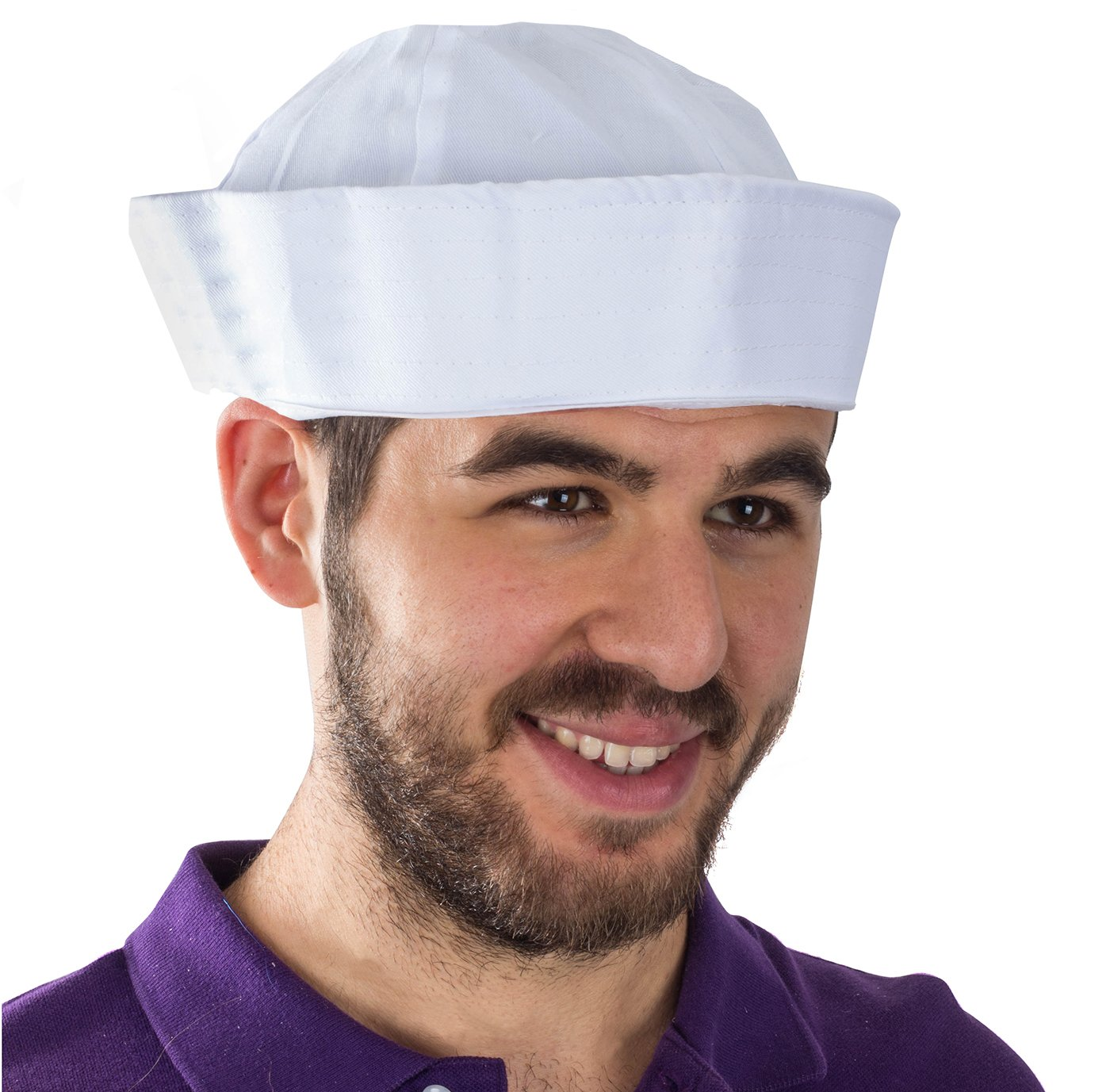 Funny Party Hats Yacht Hat - White Sailor Hats - Sailor Costume Hat by by Funny Party Hats (Image #3)