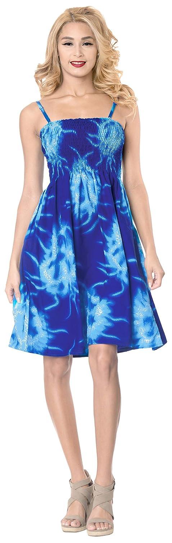 LA LEELA Cubre el Desgaste de Las Mujeres a Corto Tubo hasta la Rodilla Vestido de la Correa de la luz Azul Real elástica: Amazon.es: Ropa y accesorios