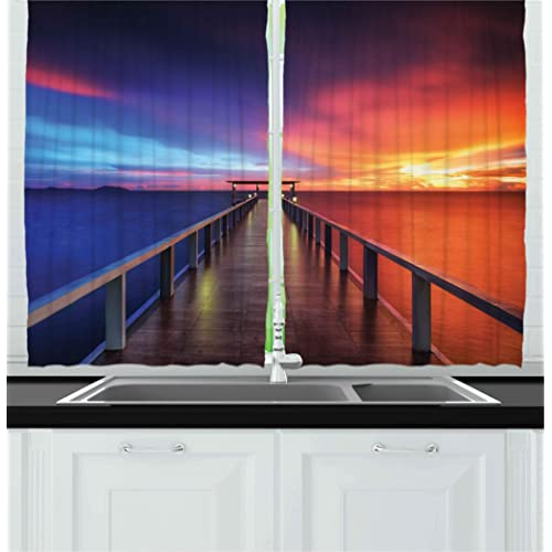 Sea Kitchen Curtains Amazon: Coastal Kitchen Curtains: Amazon.com