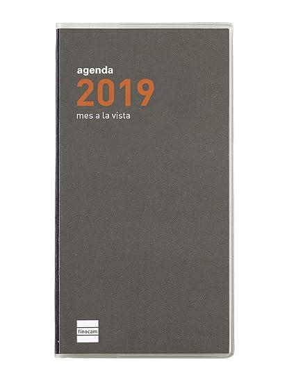 Agenda de bolsillo 2019 mes vista español