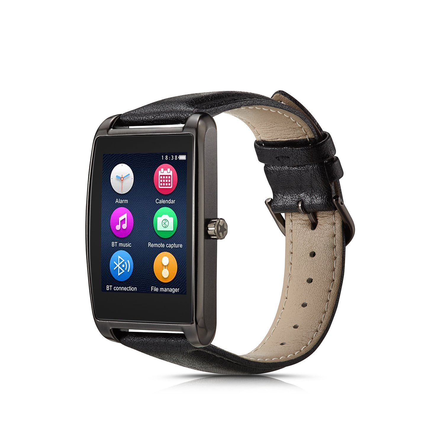 Le Pan 1.6'' Touchscreen Smartwatch for Android & iOS - Gunmetal (L11-Gunmetal)