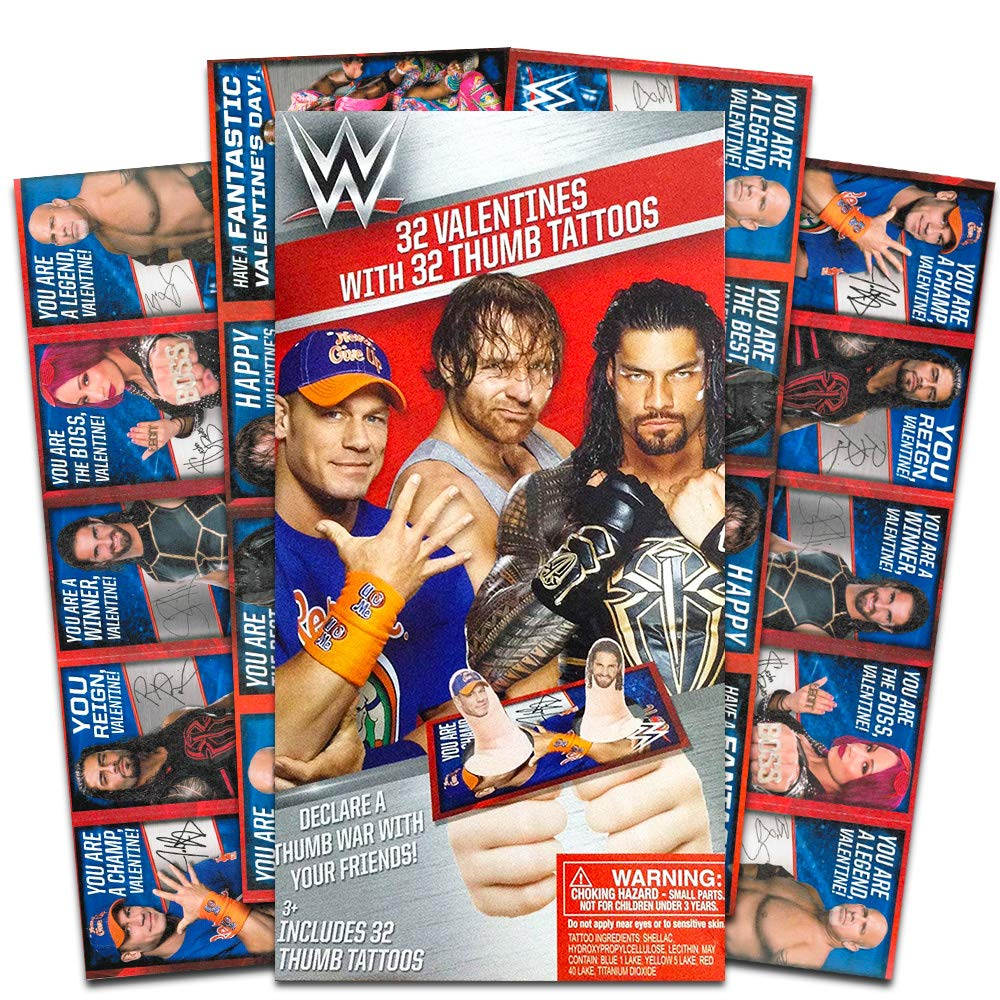 WWE 32 Valentines with 32 Thumb Tattoos