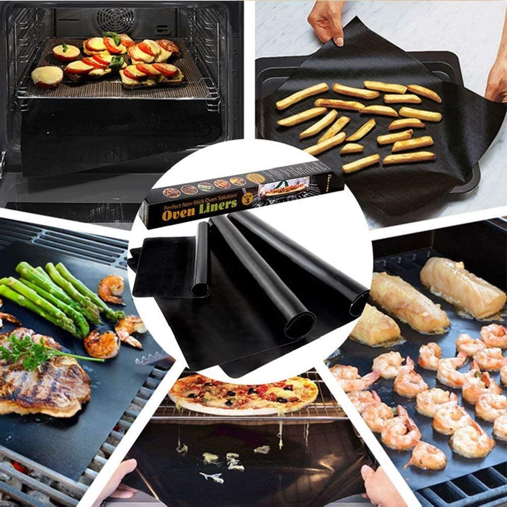 HelloPet Non Stick 3pcs Magic – Mat Easy Bake Grill BBQ Grill Mats