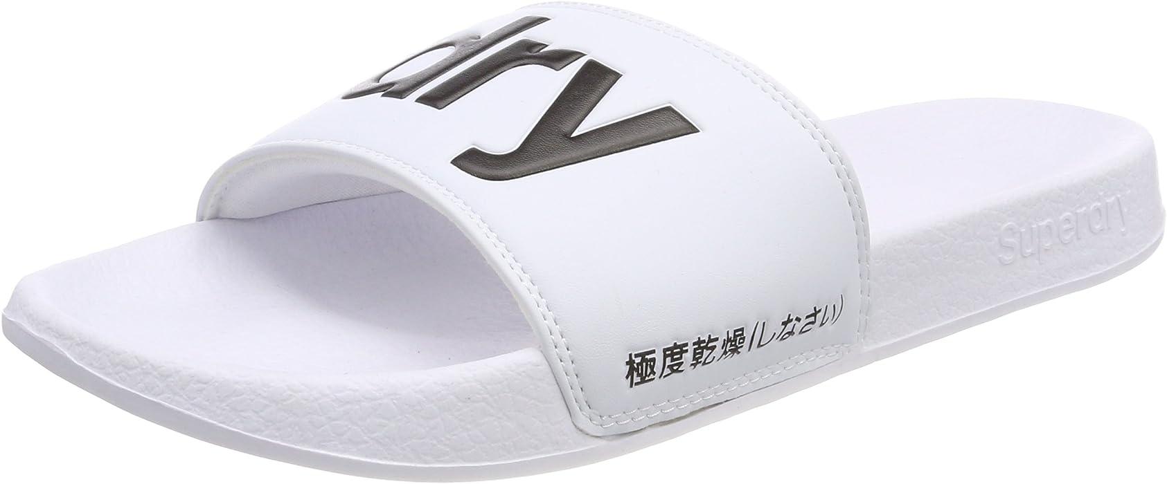 99aea7159b5925 Amazon.com  Superdry Pool Slide Mens Sandals White  Clothing