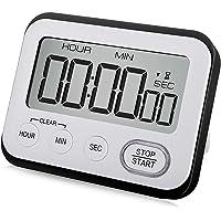WUTL Digital Kitchen Timer Magnetic Loud Alarm Clock, Large LCD Screen Silent/Beeping Multi-Function for Teachers Kids…