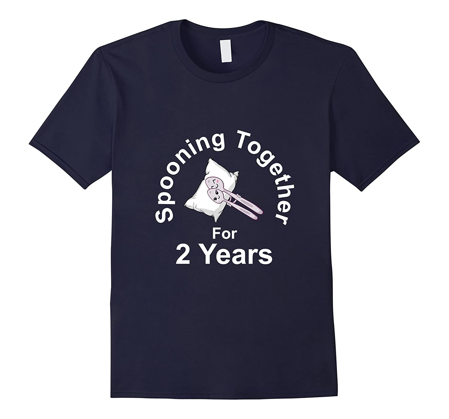 2nd Wedding Anniversary Gift Tshirt Husband Wife Couple Date-TH