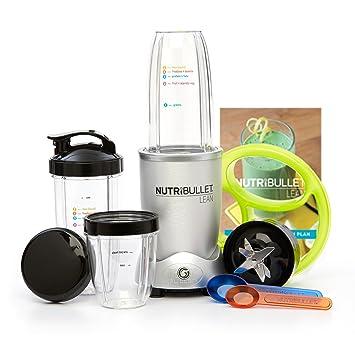 NutriBullet 10 310 Batidora de vaso 1200W Plata - Licuadora (Batidora de vaso, Plata, Botones, De plástico, 1200 W, De plástico): Amazon.es: Hogar