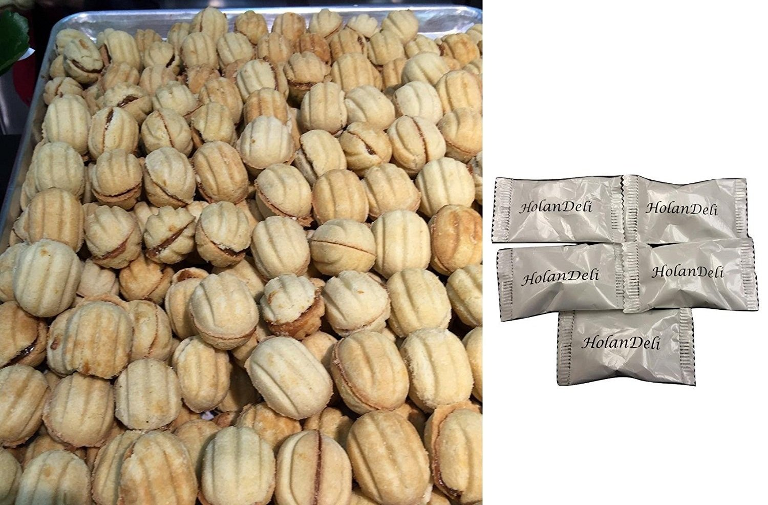 NEW! Oreshki (Sweet nuts filled with condensed milk) 1lb by HolanDeli