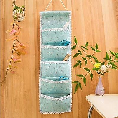 Sac De Rangement En Lin Rectangulaire Multi-étages Sac De Rangement Mural, Quatre Couleurs Sont Disponibles