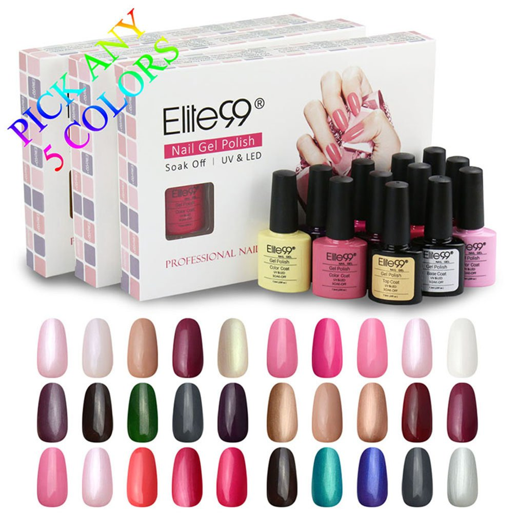Elite99 (Any 5 Colors) Soak Off Gel Nail Polish UV LED Color Nail ...