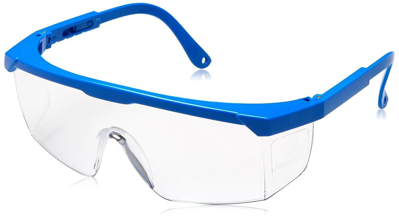 Sencillas gafas transparentes de seguridad elaboradas en policarbonato y diseño ergonómico.