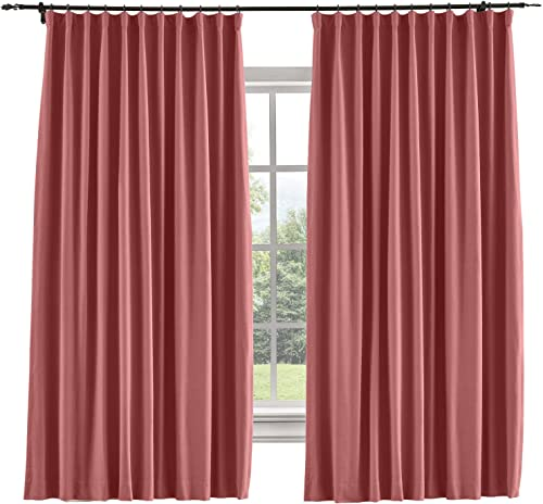 TWOPAGES Thermal Insulated Heavyweight Blackout Goblet Hook Curtains Window Treatment Drapes Wide Width Curtains Room Darkening Curtains for Bedroom 1 Panel, 120 x 96 Inch