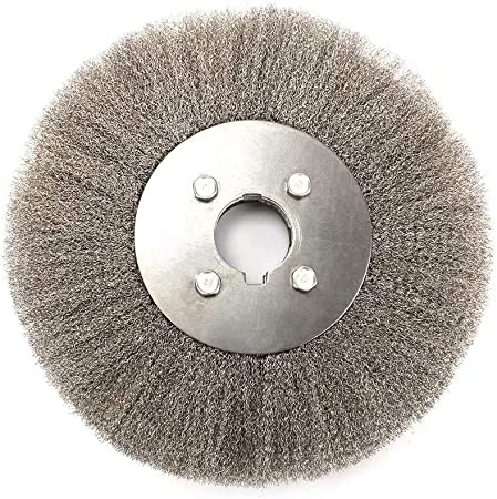 6 Inch Crimped Stainless Steel Wire Wheel Polishing Brush for Paint Rust Removal